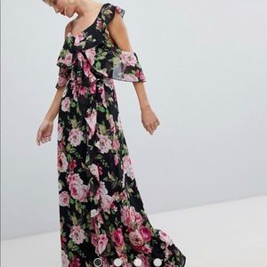 ASOS maxi dress/gown in romantic floral print.